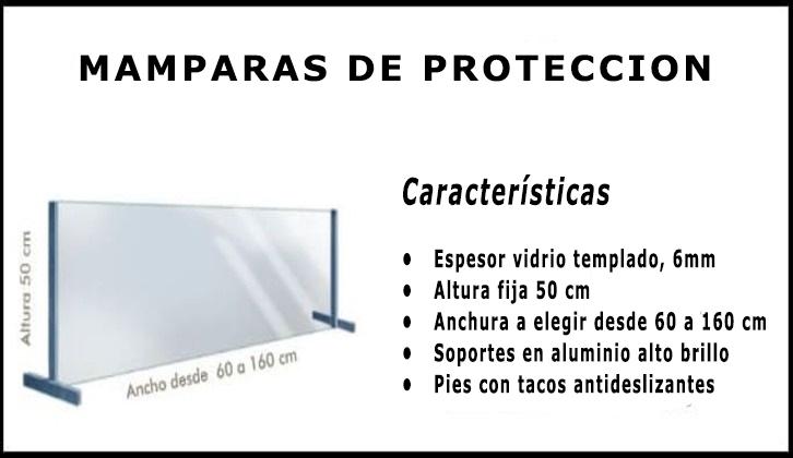 mampara protectora coronavirus